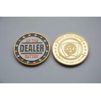 Wholesale Painted Commemorative Coins , diameter 40mm poker card guards 3mm thickness from china suppliers