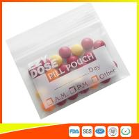 Buy Customized Clear Ziplock Pill Bags Resealable For Drug Medicine Packing at wholesale prices