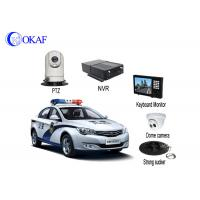 4G Police Car IR Auto Tracking PTZ Camera / Security Camera With Powerful Magnet Mount