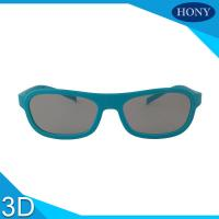Buy cheap Cinema ABS Linear Polarized 3D Glasses , 3D Movie Glasses With Blue Frame from wholesalers