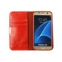Professional Samsung Galaxy S6 Protective Case Shockproof Red Color With Stand Functional
