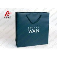 Quality Soft Touch Film Strong Custom Printed Paper Bags No Minimum Silk Screen Printing for sale