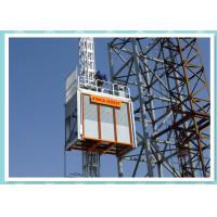 Quality Double Cage Construction Site Elevator , Industrial Materials Hoist for sale