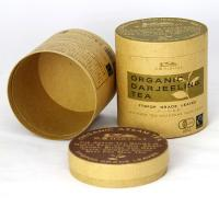 Eco-friendly Brown Kraft Paper Cans Packaging for Flower Tea and Nutrition Powder