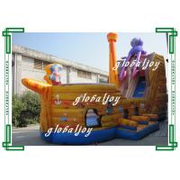 Wholesale Toddler Pirate Ship Inflatable Bouncer / Inflatable Pirate Ship Slide from china suppliers