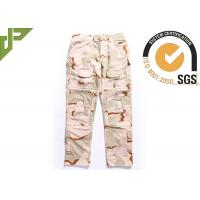 Quality Desert Military Tactical Pants Built In Knee Pads For Security Guard / Police Outdoor Sport for sale
