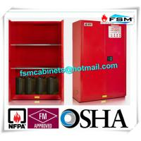 Safety Combustible Storage Cabinets , Flammable Storage Containers Double Doors