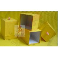 Yellow Gift Cardboard Jewellery Boxes / Womens Jewelry Box Paper