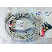 Medical Compatible ECG Patient Cable 12 Pin One Piece Ecg Cables And Leadwires