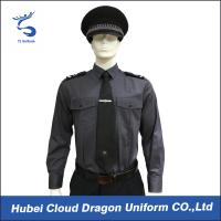 Quality Long Sleeve Security Uniform Shirts / Zip Front Military Style Shirt Size Custom for sale