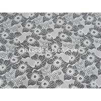 Quality White Nylon Spandex Stretch Lace Fabric With Flower Design For Garment SYD-0186 for sale