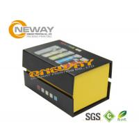 Grey Matt Paper Electronic Product Packaging Boxes 20 * 15 * 6cm