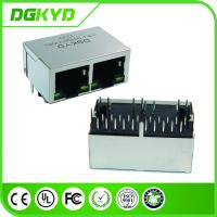 Right Angle dual port RJ45 connector Integrated Magnetics Filter 1000 BASE -TX