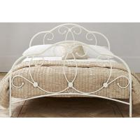 Attractive metal frame bed with sturdy metal structure, color customizd