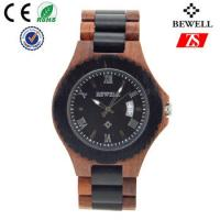Quality Japan Movement Wooden Wrist Watch With Spring Buckle , Logo Customized for sale