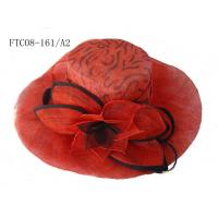 lady hat sinamay red FTC08-161