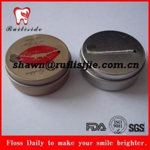 reusable private logo printed iron case dental floss