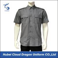 Buy Short Sleeve Security Guard Shirts , Men's Work Shirts With Functional Pockets at wholesale prices