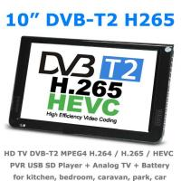 10 DVB-T2 MPEG4 H265 HEVC H264 Portable TV PVR Multimedia Player Digital Analog kitchen bedroom car