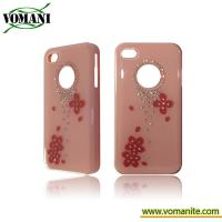 Wholesale PC gel case cover for Apple iphone 4S with dimaond from china suppliers