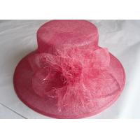 Wholesale Pink Sinamay Womens Church Hats Unedged Decoration With 11cm Brim For Spring from china suppliers