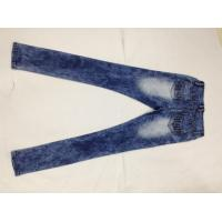 Wholesale Broken Hole Womens Designer Tapered Pencil Jeans Pants Stone Washed Wear Resistant from china suppliers