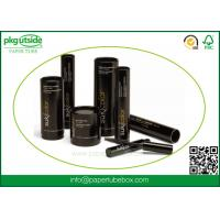 Black Custom Cardboard Tubes , Paper Cylinder Containers For Eyelash Packaging