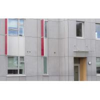 Quality Cellulose Exterior Fiber Cement Board , Light Grey Cement Sheet Wall Panels for sale