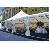 Quality High Peak Assembled Frame Luxury Wedding Tents Marquee With Noble Decorations for sale