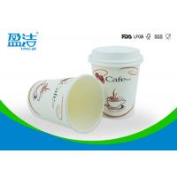 Environmental Friendly Paper Coffee Cups With Lids , OEM / ODM Disposable Drinking Cups