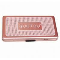 Quality Eye Showder Rectangular Tin Box with foam and mirror , cosmetic tin box with hinged lid for sale