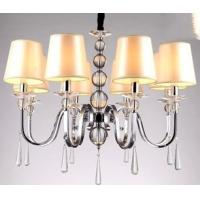 Wholesale Europe style stylish ADS Tube Chrome drawbench Cloth lamp shade Pendant Lights (6-Light) from china suppliers