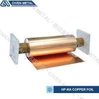 Quality 650mm wide width HP-RA copper foil C11000 with high conductivity in roll ISO9001/SGS for sale