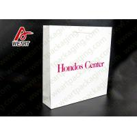 Quality White Card Paper Material Promotional Carrier Bags , Branded Promotional Products Bags for sale