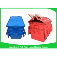 Quality Plastic Storage Attach Lid Containers 600 * 400mm Assorted Height for sale