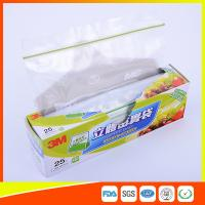 Food Grade Freezer Zip Lock Bags / Zip Top Freezer Bags Customized Printed