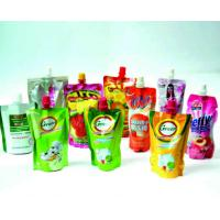 Wholesale Standing Liquid Spout Bags Doypack Pouch , Special Shape Stand Up Drink Pouch from china suppliers