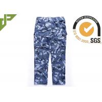 Wholesale Ocean Military Style Cargo Pants , Polyester Cotton Combat Trousers With Knee Pads from china suppliers