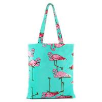 Flower Pattern Zipper Printed Shopping Bags For Grocery Stores