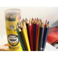 Wholesale High Quality Triangle Shape Colors Art Black Wood Color Pencils from china suppliers