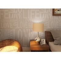 0.53*10M Modern Non - woven Wallpaper , Fashion LOVE English Letters Wallpaper