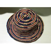 Wholesale Provence Crochet Mix Colour Raffia Sun Hats With 8cm Brim For Church from china suppliers