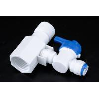 Quality Quick Connect Tee RO Water Treatment System Two Way Sliptter And Inlet Valve for sale