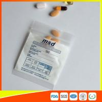 Quality Clear Small Ziplock Bags For Pills , Disposable Air Tight Zip Lock Bags for sale