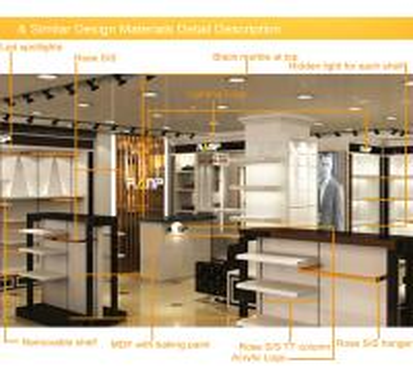 Design For Clothes Shop | Wholesale Custom Design Wooden Menswear Clothes Shop Furniture