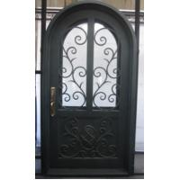 Arched wrought iron entry doors, single & double exterior iron front ...