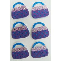 Wholesale Fashion Leopard Heart Shaped Stickers Fuzzy For Bags / Cell Phone from china suppliers