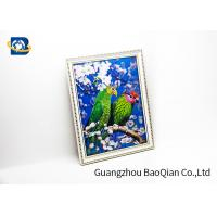 Pet Material Custom Lenticular Printing , Birds 3D Pictures Of Animals 0.6MM Thickness