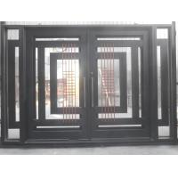 Safety Glass Front Door Wrought Iron Glass Entry Door Of
