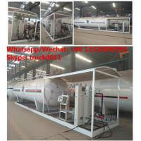 Buy cheap 2018s mobile Lpg filling plant with gas storage tank  12.5tons skid lpg gas refilling station with digital scales from wholesalers